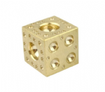 "Solid Brass Doming Dapping Forming Block 2.5"". M9287"
